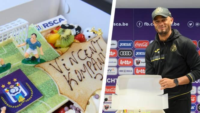 """Wij namen taart mee naar persconferentie van (bijna) jarige Kompany: """"Match tegen Club zit al maanden in m'n gedachten"""""""