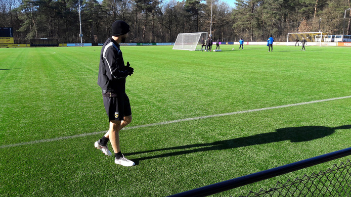 Tim Matavs op het trainingsveld.