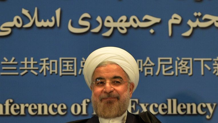 De Iraanse president Hassan Rouhani.