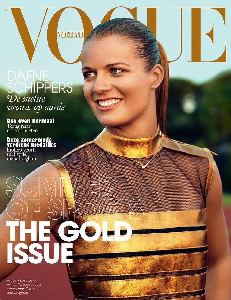 Dafne op de cover van Vogue Beeld Marc de Groot