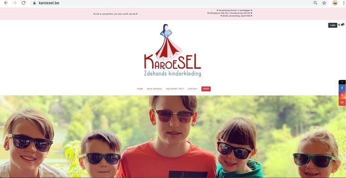 Een blik op de webshop