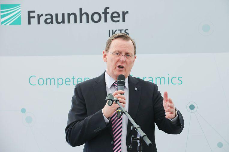 Bodo Ramelow, de minister-president van de oostelijke Duitse deelstaat Thüringen. Beeld Bodo Schackow/dpa-Zentralbild/dp