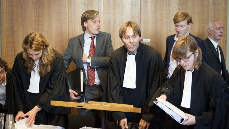 Het begin van de rechtszaak over de langstudeerboete, afgelopen mei. Beeld ANP