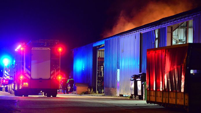 Brand bij schuur aan Langstraat Deurne.