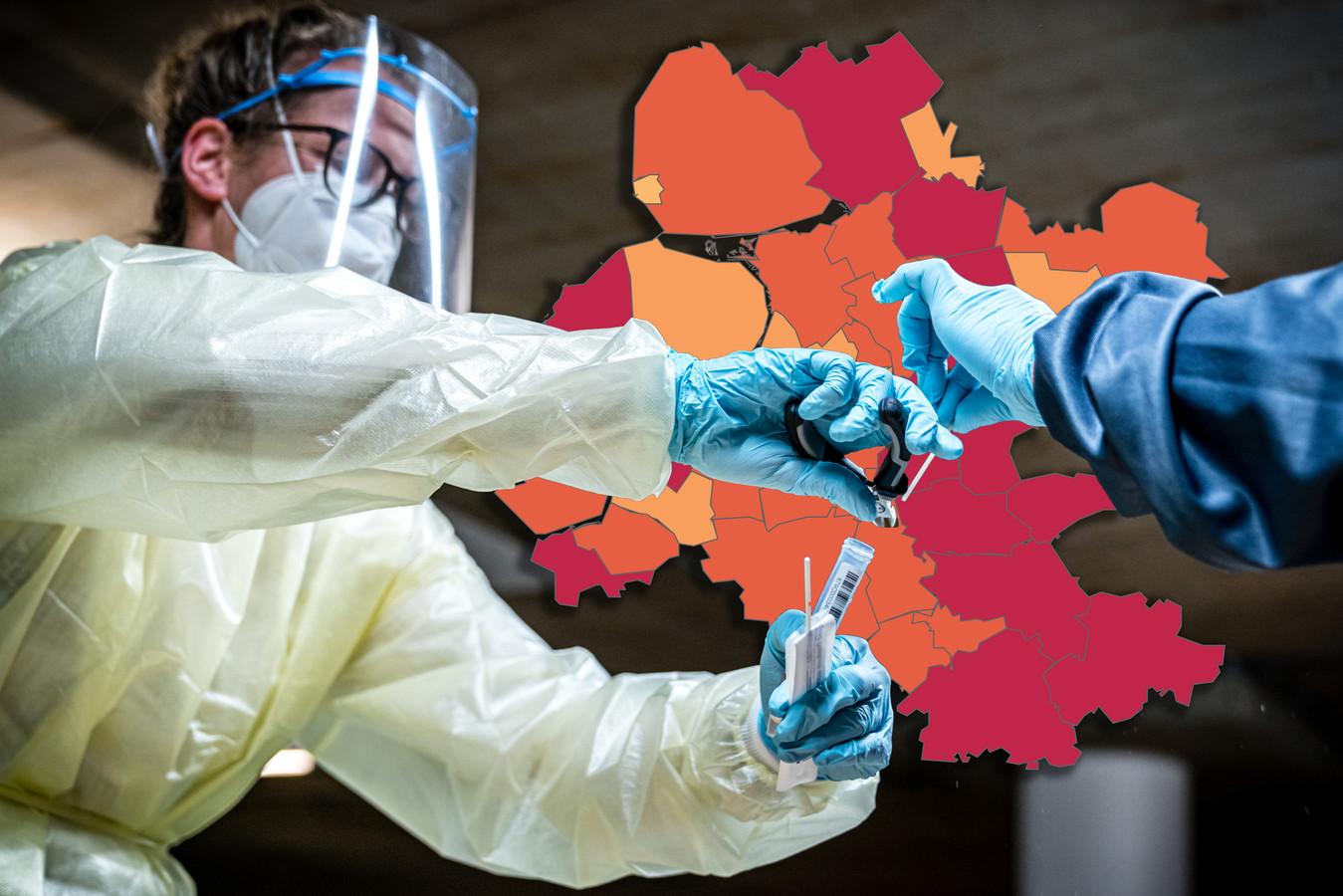 Het gaat hard met de besmettingen in Oost-Nederland