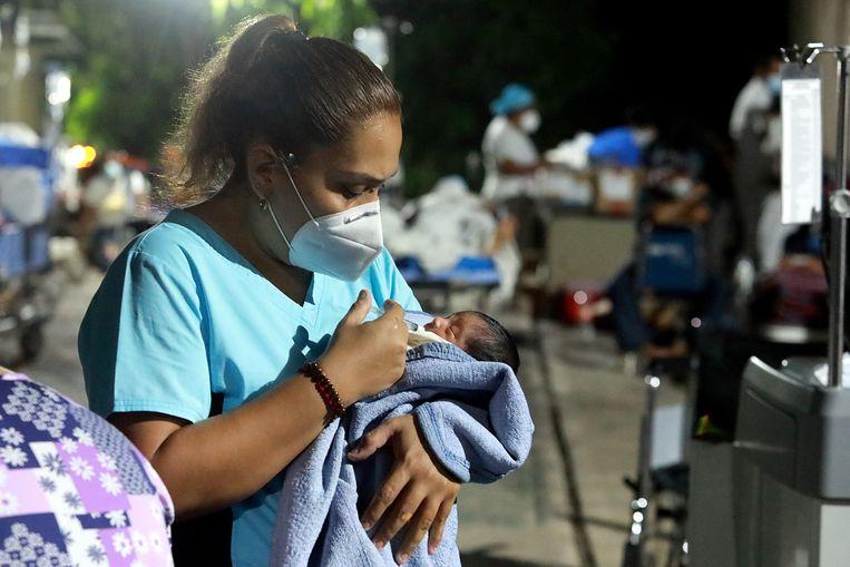Een baby in Mexico. Beeld EPA