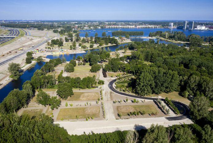 Het Floriadeterrein bij het Weerwater.