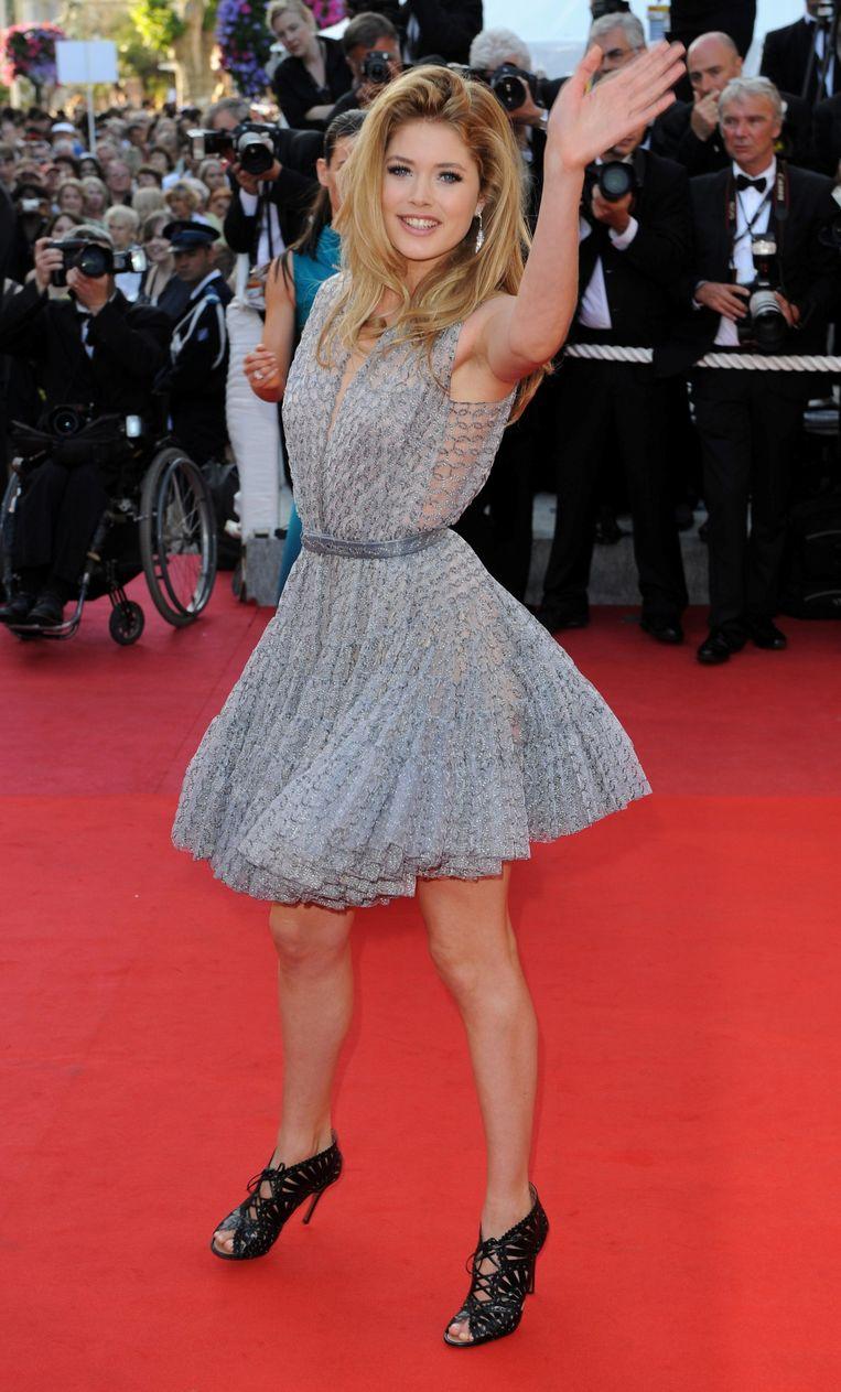 Doutzen Kroes op het filmfestival van Cannes in 2009.