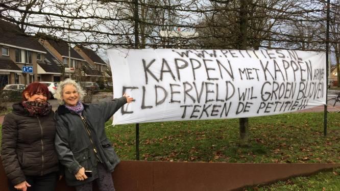 Bewoners Arnhemse wijk Elderveld in actie tegen bomenkap: 'Onze burgerrechten worden geschonden'