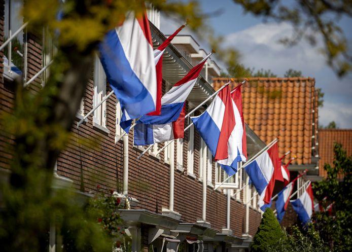 Vlaggen in top op Bevrijdingsdag.