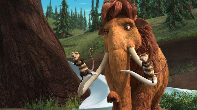 Op een enorm projectiescherm tonen filmmakers driedimensionale producties. Te zien zijn onder meer Monsters vs Aliens and Ice Age 3: Dawn of the Dinosaurs (foto). Foto GPD Beeld
