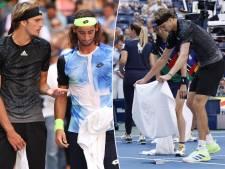Scène surprenante à l'US Open: Harris explose deux bouteilles sur le court, puis essuie avec Zverev et l'arbitre