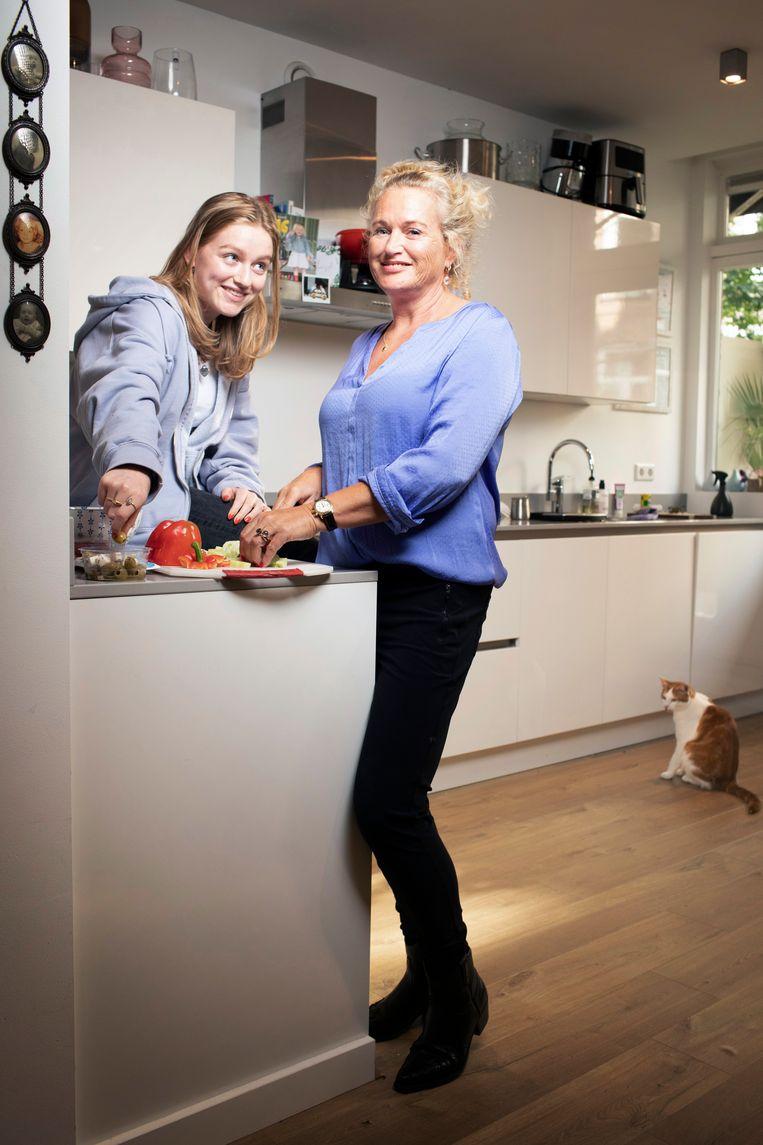 Amber en Daniëlle. Beeld Harmen de Jong