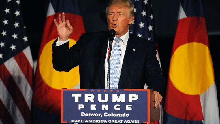 De controversiële presidentskandidaat Donald Trump. Beeld AFP