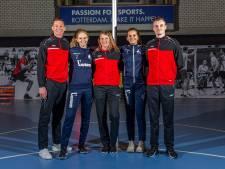 Vijf Belgische korfballers zoeken hun heil in de Drechtsteden: 'Het is hier echt een grote sport'
