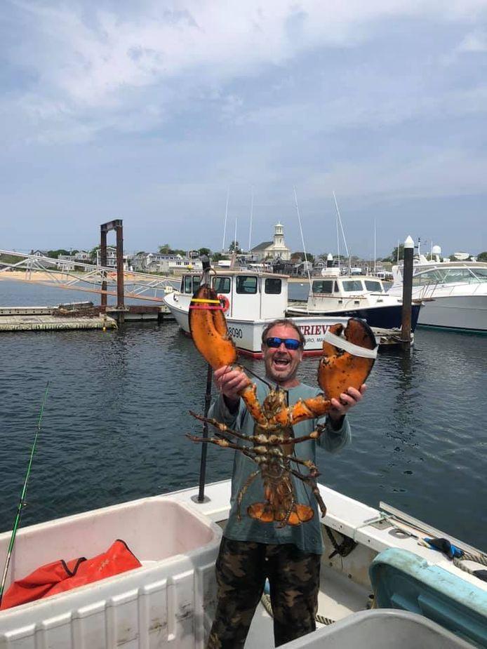 De Amerikaanse kreeftenvisser Michael Packard, die zegt een bizar avontuur te hebben beleefd in de bek van een bultrugwalvis.