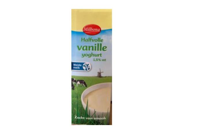 De bewuste vanilleyoghurt.