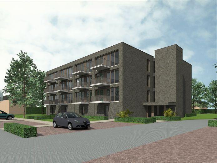 Eerste ontwerp nieuwbouw Albinonistraat in Boxtel.