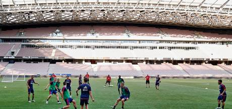In Nice is het verdriet toch al in het voetbal verweven
