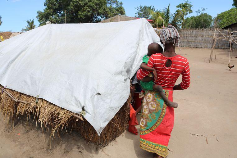 Een vluchtelingenkamp in de noordelijke provincie Cabo Delgado. Beeld via REUTERS