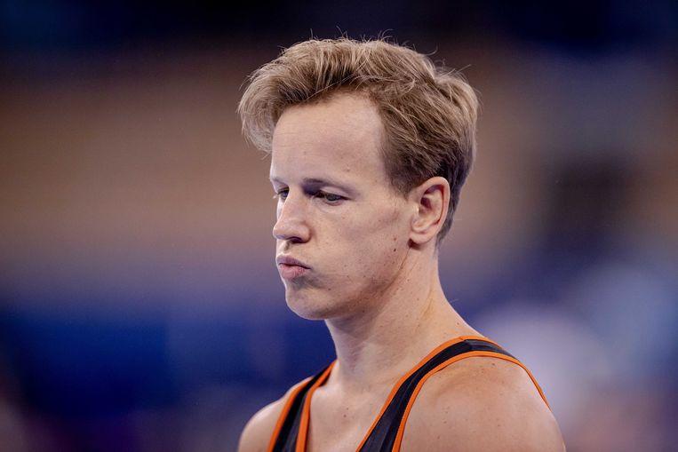 Epke Zonderland werd in 2012 olympisch kampioen op de rekstok, maar werd afgelopen zaterdag uitgeschakeld in de kwalificatie. Beeld ANP