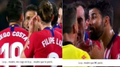 'Hijo de p***' in het kwadraat: Diego Costa van het veld gestuurd na wel erg expliciete tirade tegen ref