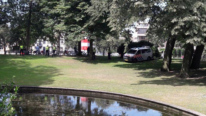Politie-actie in het Valkenberg tegen drugsdealers.