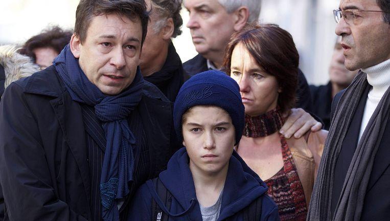Victor Pirotton, drie jaar geleden bij de begrafenis van zijn moeder Véronique. Beeld BELGA