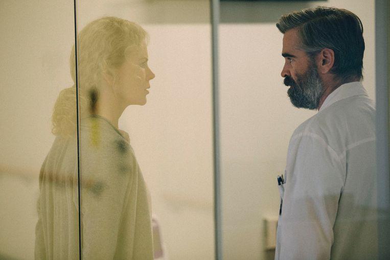 Nicole Kidman en Colin Farrell in 'The Killing of a Sacred Deer'. Beeld rv
