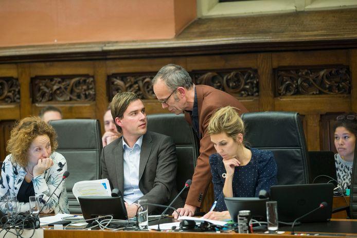 Mathias De Clercq, hier op de Gentse gemeenteraad met Filip Watteeuw.