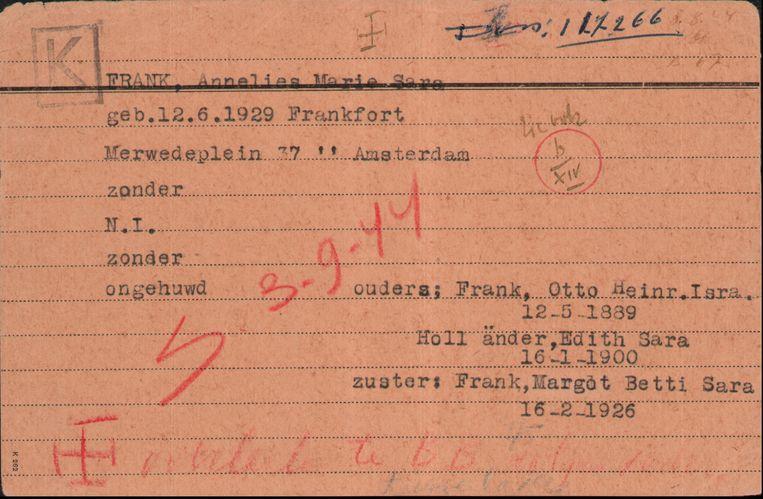 Kaart uit de Joodse Raad Cartotheek. Beeld Rode Kruis