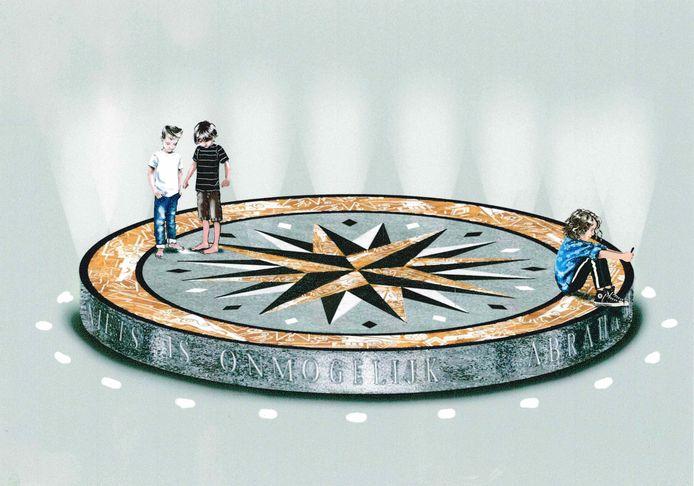 Zo ziet het monument voor Abraham Tuschinski er uit,