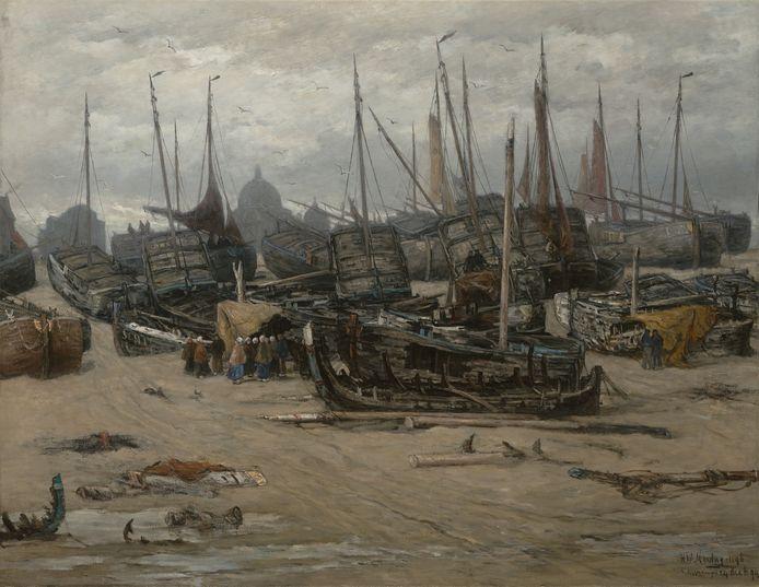 Hendrik Mesdag legde de ravage vast van de stormvloed van 1894.