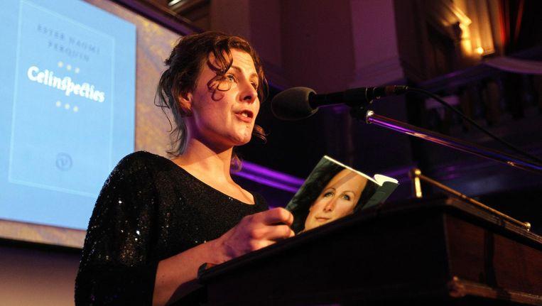 Dichter des Vaderlands Ester Naomi Perquin, die in 2013 de VSB Poëzieprijs won. Beeld ANP