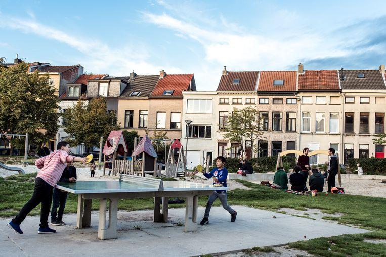 Het Krugerplein in Antwerpen.  Beeld Tine Schoemaker