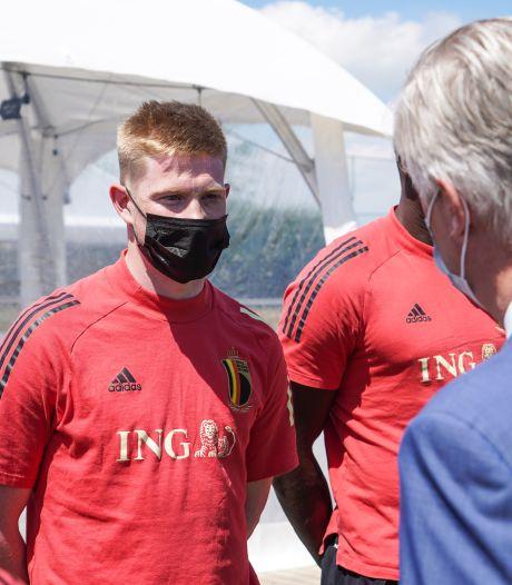 """De Bruyne au Roi Philippe: """"J'espère jouer le match contre le Danemark"""""""