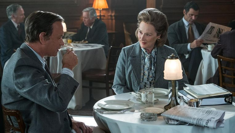 Tom Hanks en Meryl Streep in The Post van Steven Spielberg. Beeld