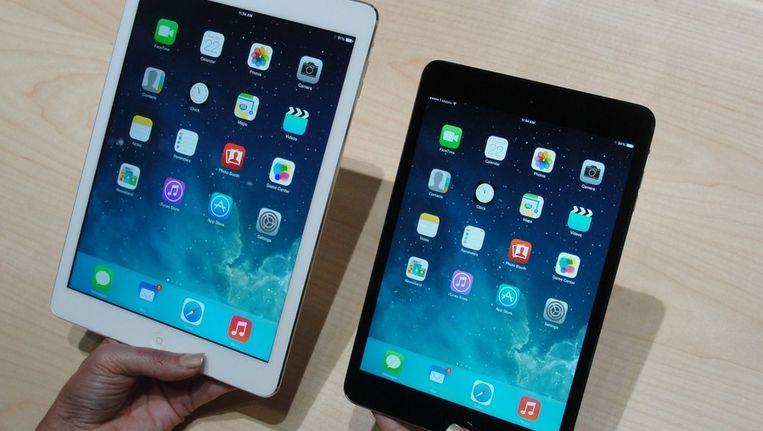 Apple presenteerde gisteren in San Francisco de iPad Air en de iPad Mini 2. Beeld afp