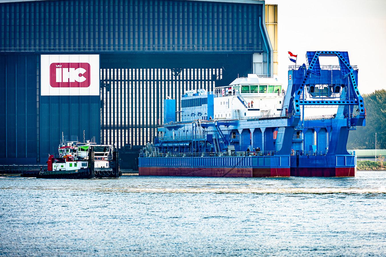 Deze zomer werd het laatste schip te water gelaten bij IHC; er zijn geen opdrachten meer.