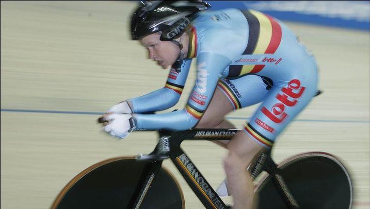 Jolien D'Hoore eindigde achtste in de puntenkoers, nadat ze de eerste sprint won. Beeld UNKNOWN