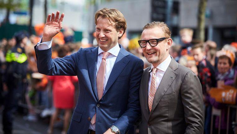 Prins Bernhard jr (rechts) tijdens Koningsdag 2017 in Tilburg. Beeld anp