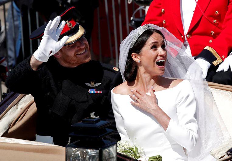 Harry en Meghan stapten in mei in het huwelijksbootje. Beeld REUTERS