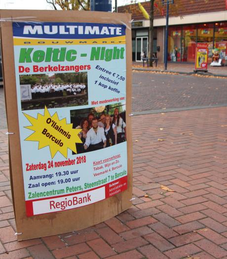 Alleen lokale reclame op sandwichborden in Berkelland