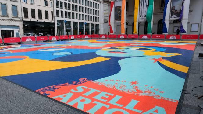 Stella Artois palmt Muntplein in met street art-installatie om heropening horeca in de verf te zetten