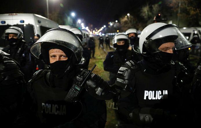 In de hoofdstad was veel politie op de been, ook om botsingen met uiterst rechts te voorkomen.