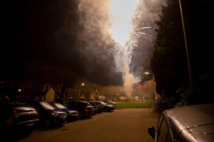Er werd vuurwerk afgestoken.