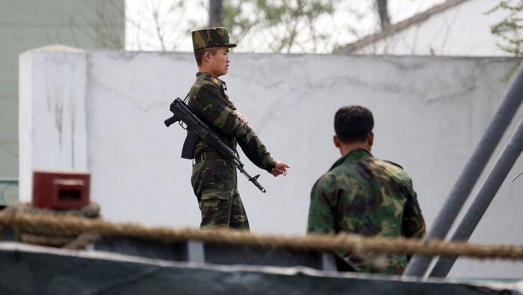 Noord-Koreaanse soldaten in Sinuiju