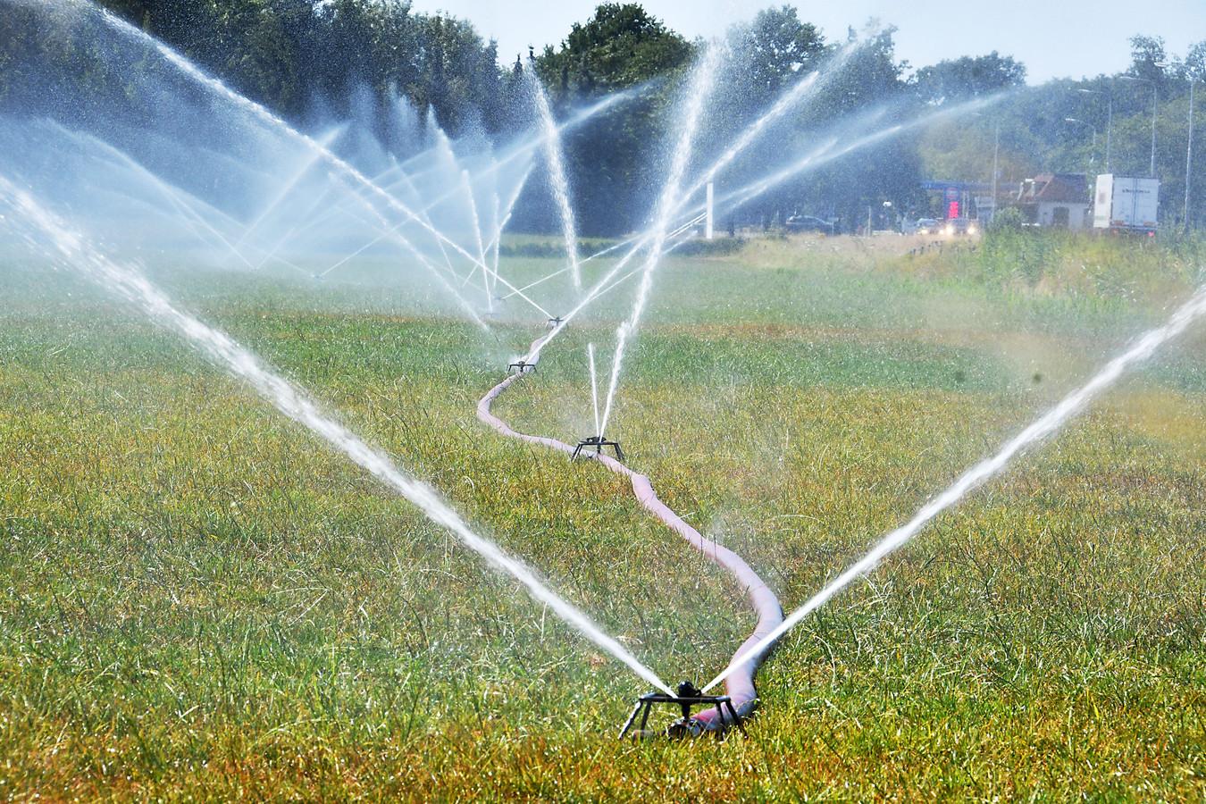 Bedrijven, maar ook particulieren in Rivierenland die nu toch nog overdag sproeien met water uit sloten, beken of ander oppervlaktewater, riskeren een boete van minstens 550 euro.