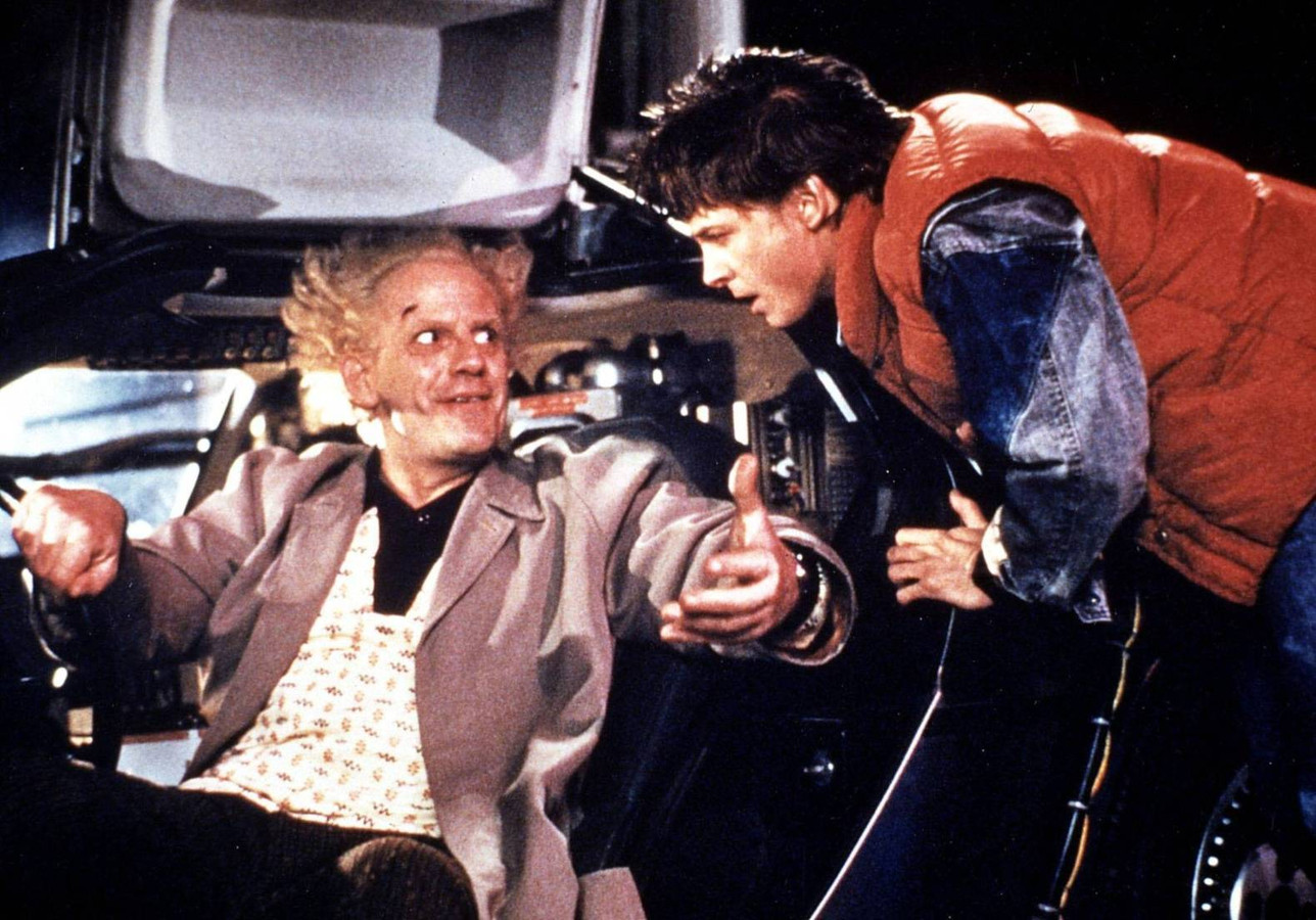 Doc en Marty in 'Back to the Future'.