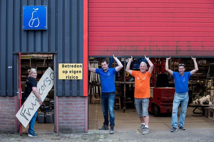 Sonja Heuschen, Remco van Malsen, Jilles van Maanen en Corné van Beem kijken reikhalzend uit naar een zorgeloos corsojaar. Hopelijk kan de zestigste editie in 2022 doorgaan.